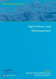 Cover of: Agriculture and development |