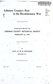 Cover of: Lebanon County