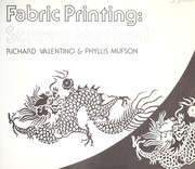 Cover of: Fabric printing : screen method |