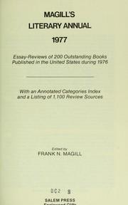 Magill's Literary Annual, 1977, Set