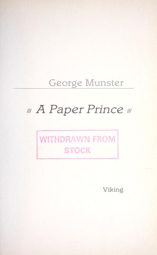 A paper prince by George Munster