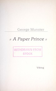 Cover of: A paper prince | George Munster