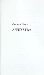 Cover of: Aspidistra | George Orwell