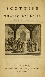 Cover of: Scottish tragic ballads. | Pinkerton, John