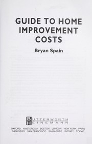 Cover of: Guide to home improvement costs