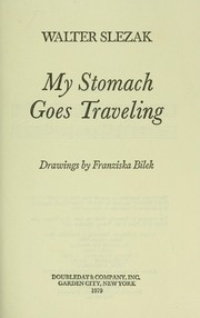 Cover of: My stomach goes traveling