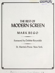 Cover of: The best of Modern screen magazine