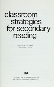Cover of: Classroom strategies for secondary reading |
