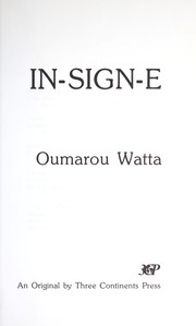 Cover of: In-sign-e | Oumarou Watta