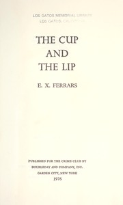 Cover of: The cup and the lip