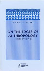 Cover of: On the edges of anthropology