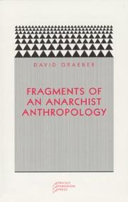 Cover of: Fragments of an anarchist anthropology