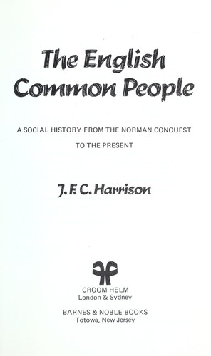 The common people by Harrison, J. F. C.