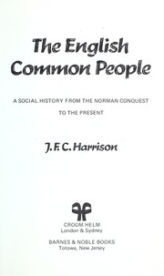 Cover of: The common people | Harrison, J. F. C.
