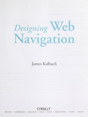 Cover of: Designing Web navigation | James Kalbach