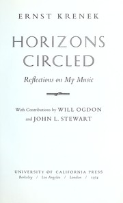 Cover of: Horizons circled: Reflections on My Music