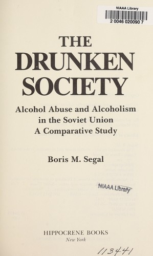 The drunken society by B. M. Segal
