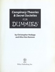 Cover of: Conspiracy theories & secret societies for dummies | Christopher Hodapp