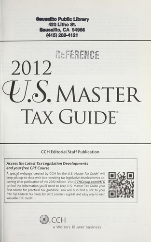 2012 Us Master Tax Guide 2011 Edition Open Library