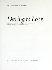 Cover of: Daring to Look | Anne Whiston Spirn