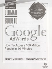 Cover of: Ultimate guide to Google AdWords | Perry S. Marshall