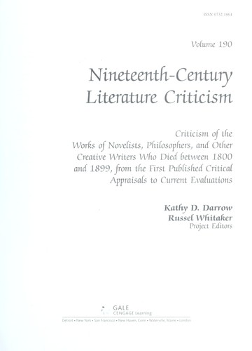Nineteenth Century Literature Criticism by