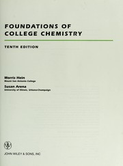 Cover of: Foundations of college chemistry | Morris Hein
