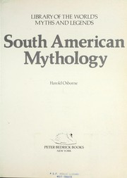 Cover of: South American mythology