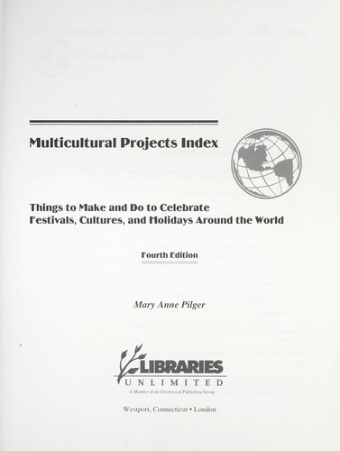 Multicultural projects index by Mary Anne Pilger