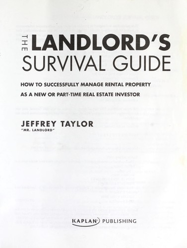 The landlord's survival guide by Jeffrey Taylor
