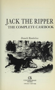 Cover of: Jack the Ripper: the complete casebook