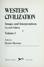 Cover of: Western civilization, images and interpretations