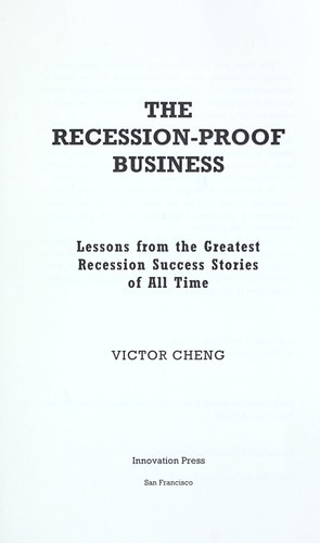 The recession-proof business by Victor Cheng