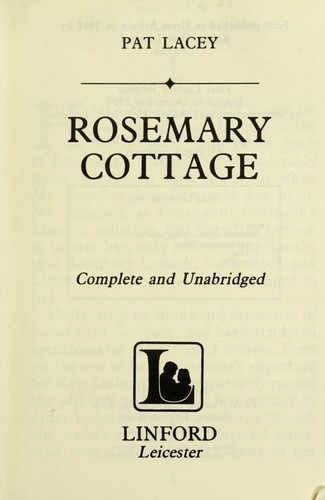 Rosemary cottage by Pat Lacey