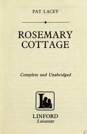 Cover of: Rosemary cottage | Pat Lacey