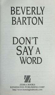 Cover of: Don't say a word | Beverly Barton