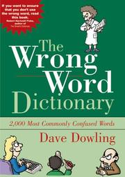 Cover of: Wrong Word Dictionary