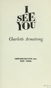 Cover of: I see you
