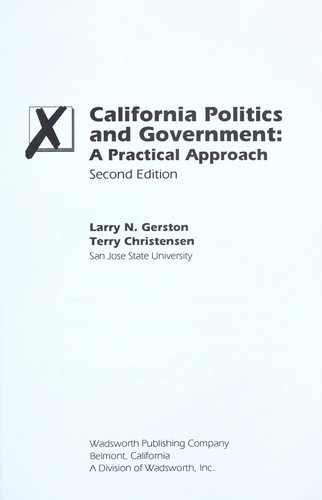 California politics and government by Larry N. Gerston
