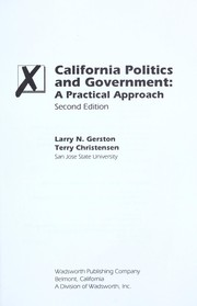 Cover of: California politics and government | Larry N. Gerston