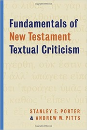 Cover of: Fundamentals of New Testament Textual Criticism |