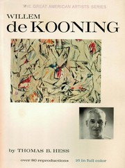 Willem de Kooning by Thomas B. Hess