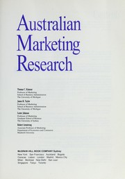 Cover of: Australian marketing research