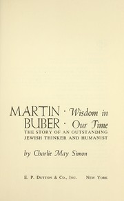 Cover of: Martin Buber: wisdom in our time