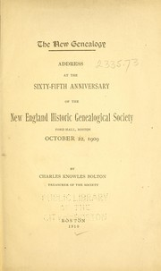 Cover of: The New Genealogy