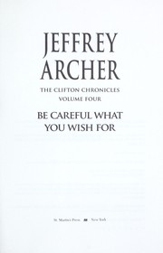 Cover of: Be careful what you wish for