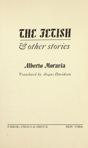Cover of: The fetish, and other stories