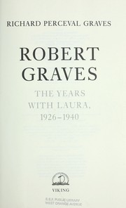 Cover of: Robert Graves