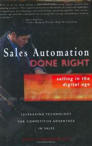 Cover of: Sales Automation Done Right