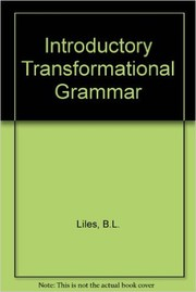 Cover of: An introductory transformational grammar